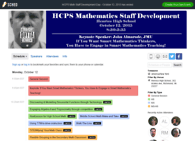 mathprofessionaldevelopment2015.sched.org