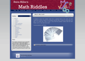 ... math riddles this site is a collection of math riddles intended to