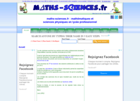 maths-sciences.fr