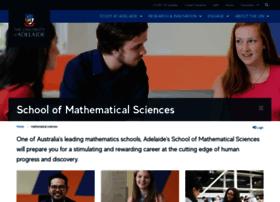 maths.adelaide.edu.au