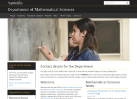 mathsci.appstate.edu