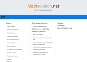 mathsolution.net