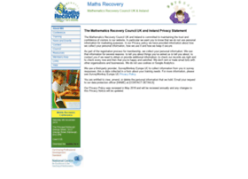 mathsrecovery.org.uk