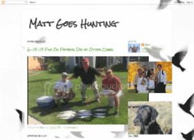 matt-goes-hunting.blogspot.com