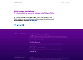mattbrictson.com
