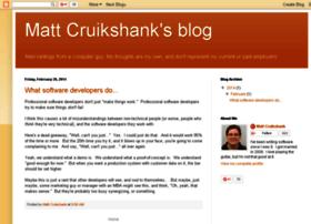 mattcruikshank.blogspot.com