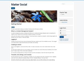 mattersocial.com