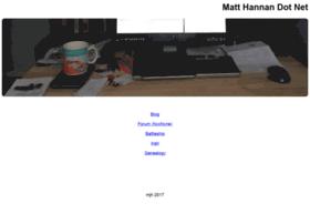 matthannan.net