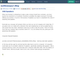matthewaqoy.blogs.experienceproject.com