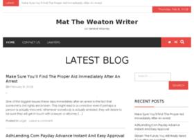 mattheweatonwriter.com