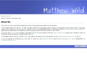 matthewwild.co.uk