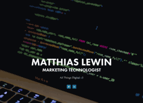 matthiaslewin.com