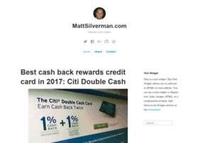 mattsilverman.com