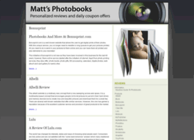 mattsphotobooks.com