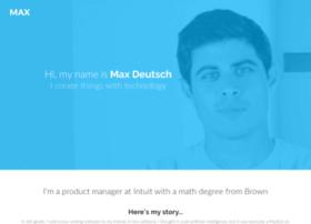 maxdeutsch.somebody.io