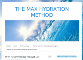 maxhydrationmethod.com