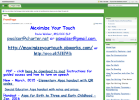 maximizeyourtouch.pbworks.com