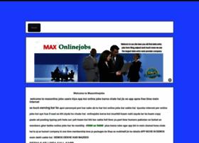 maxonlinejobs.webs.com
