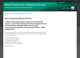 maxproductivitymasteryreview.com