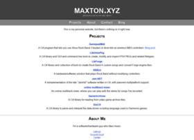 maxton.xyz