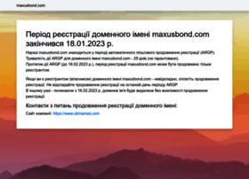 maxusbond.com