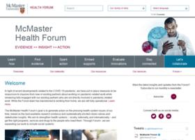 mcmasterhealthforum.org