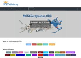 mcsecertification.org