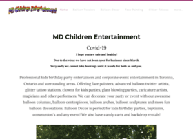 mdchildrenentertainment.com