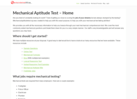 mechanicalaptitudetest.org