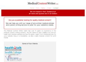 medicalcontentwriter.com