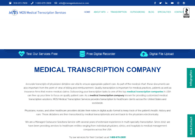 medicaltranscriptionservicecompany.com