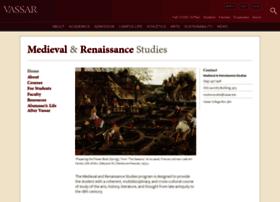 medievalandrenaissancestudies.vassar.edu
