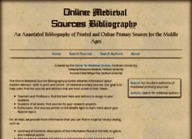 medievalsourcesbibliography.org