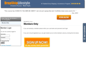 members.dropshiplifestyle.com