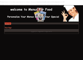 menus-for-food.com