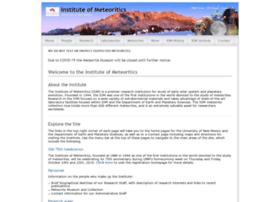 meteorite.unm.edu
