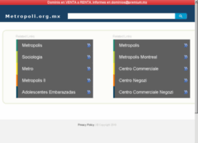 metropoli.org.mx