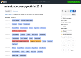 miamidadecountyyouthfair2015.sched.org