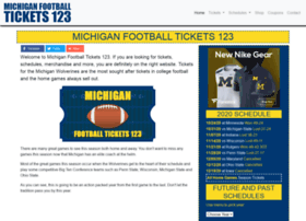 Michiganfootballtickets123.com