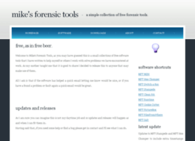 mikesforensictools.co.uk