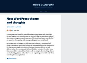 mikessharepoint.wordpress.com