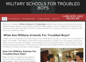 militaryschoolsfortroubledboys.com