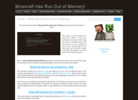 minecrafthasrunoutofmemory.com