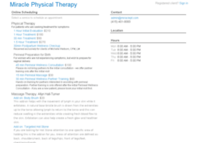 miraclephysicaltherapy.fullslate.com