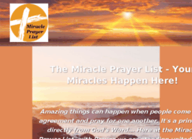 miracleprayerlist.org