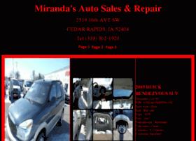mirandasautocr.com