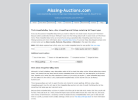 missing-auctions.com