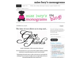 misslucysmonograms.wordpress.com