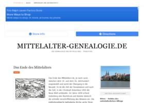 mittelalter-genealogie.de
