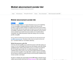 mobielabonnementzonderbkr.nl